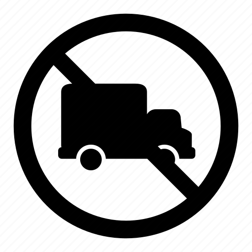 delivery, no, prohibition, signs, trucks, warning icon