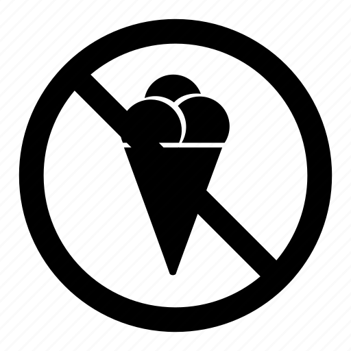 cream, ice, icecream, no, prohibition, signs, warning icon