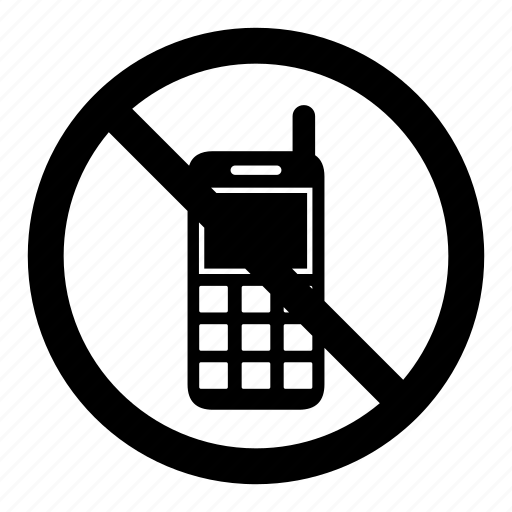 call, mobile, no, phone, prohibition, signs, warning icon