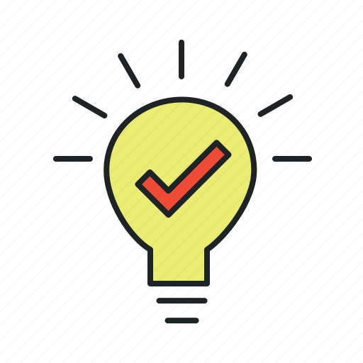 advice, bulb, concept, evidence, experience, hypothesis, idea, implement, innovation, inspiration, lamp, light, opportunity, potential, ready, realize, recover, solution, tip, trick, use case icon