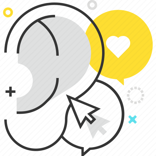 advertisement, buzz marketing, ear, hear, promotion icon