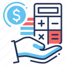 bookkeeping, calculator, money, payment icon