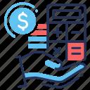 payment, money, calculator, bookkeeping