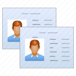 account, accounts, badge, business, card, cards, client, customer, login, manager, office, people, person, profile, user, users icon