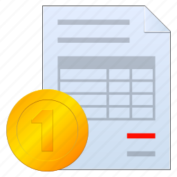 bill, business, certificate, check, coin, document, dollar, finance, financial, invoice, money, order, paper, payment, receipt icon