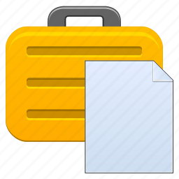 bag, baggage, box, briefcase, business, case, clipboard, copy, data, document, job, office, paste, report, storage, suitcase, travel icon