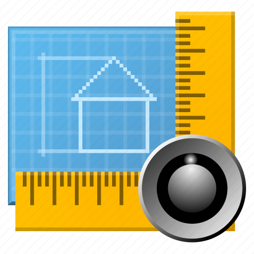 adobe, application, architecture, building, cad, construction, design, document, drawing, graph, home, paint, pen, pencil, photoshop, plan, project, ruler, software, tools icon