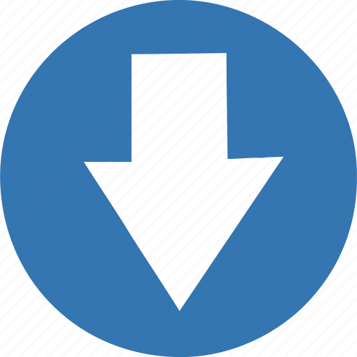 arrow, bottom, direction, down, download, fail, guardar, move, save icon