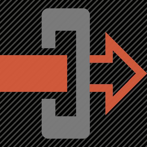 arrow, cancel, close, door, exit, gateway, log out, login, logout icon
