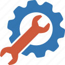 admin, application, config, configuration, control, engineering, equipment, gear, hardware, install, maintenance, options, project, repair, service, setting, settings, setup, software, support, system, tool, tools, wrench icon