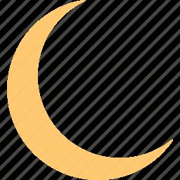 clear, dream, moon, muslim, night, sleep, weather icon