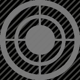 aim, arrow, bullseye, center, game, goal, point, security, target, targeting icon