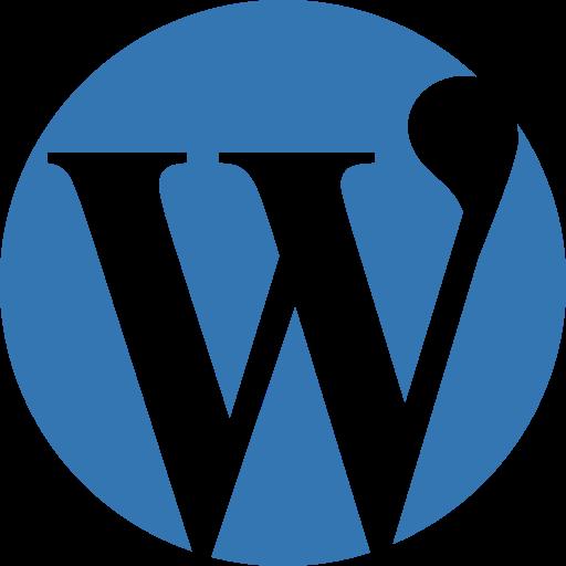 blog, blogging, crm, logo, media, newsletter, online, press, social, word, wordpress icon