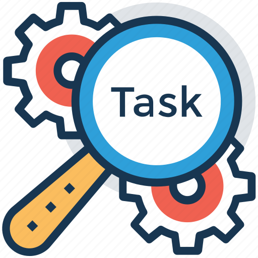 management concept, process management, task administration, task complexity, task management icon