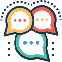 chat, communication, conversation, dialogue, negotiation icon