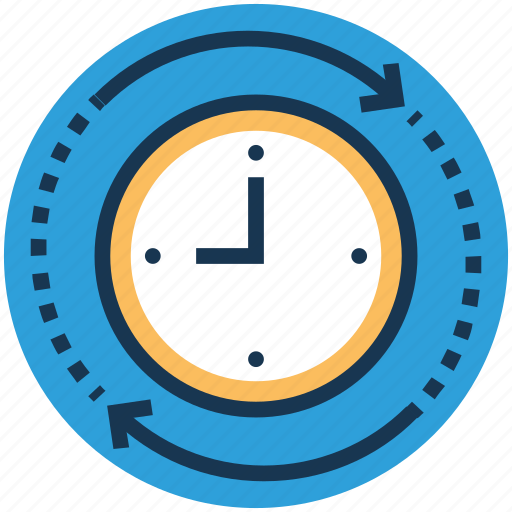 cycle time, regular, routine, time process, timer icon