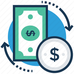 cash budget, cash flow, earn money, money gain, revenue icon