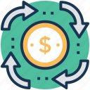business profit, financial progress, money growth, pension, revenue generated icon