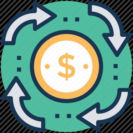 business profit, financial progress, money growth, pension, revenue generated icon