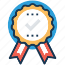 quality, recommendation, reward, ribbon badge, testimonials icon