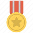 award, gold medal, medal with star, premium quality, winner icon