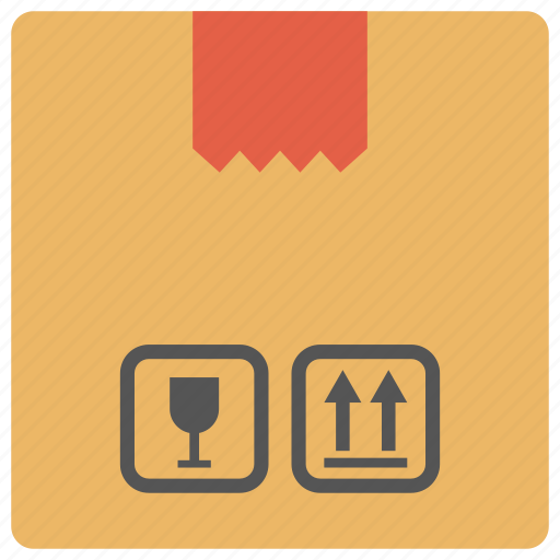 box, courier box, delivery box, packaging, parcel icon