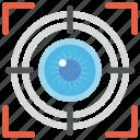 analysis, eye focus, monitoring, target, vision icon