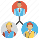 collaboration, management, project staff relation, teamwork, work group icon
