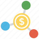 business concept, business hunt, dollar mining, dollar network, money making icon