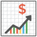 analytics, business growth, productivity information, statistics, survey graph icon