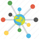 global network, international branches, international network, seo networking, worldwide connection icon