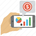 productivity information, mobile analysis, statistical analytics, survey graph, pie chart analysis icon