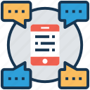 chit chat, conversation, mobile chat, online communication, small talk icon