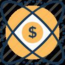 business chemistry, dollar molecule, finance management, financial molecule, financial research icon