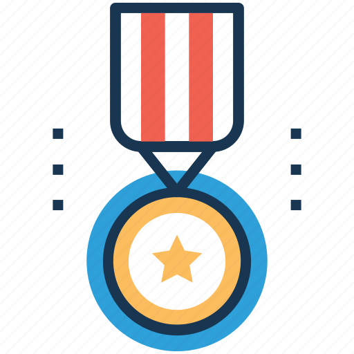 achievement, first place, first rank, star medal, winner icon