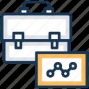 bag, briefcase, business bag, business case, business portfolio icon
