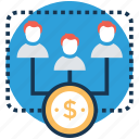 compensation, employee benefit, employee salary, employee wages, staff payroll icon