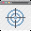aim, business target, online target, shooting, target, web shooting, web target icon