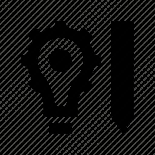 bulb, idea, innovation, management, solution icon