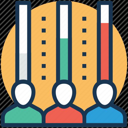abilities graph, corporate team, quality circle, team ranking, team skills icon