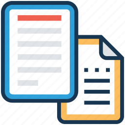 documents, files, metadata, papers, paperwork icon