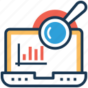 graph view, seo analysis, web analytics, web infographic, web ranking icon
