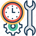 planning, productivity, time management, time preferences, time settings icon