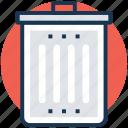 delete dustbin, recycle, recycle bin, rubbish bin, trash bin icon