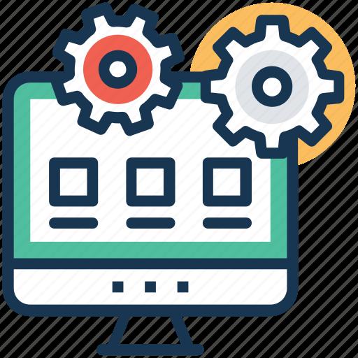 web advancement, web configuration, web development. web settings, website maintenance icon