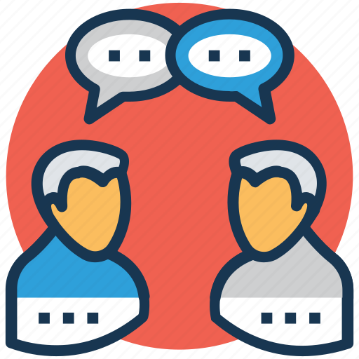 conversation, debate, discussion, meeting, talking icon