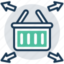 buy online, order management, order processing, shipping method, shopping basket icon