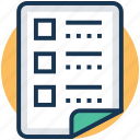 agenda, checklist, list item, task list, work management icon