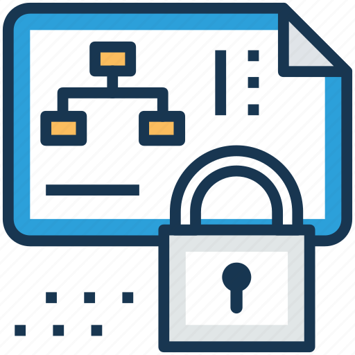 project file locked, project privacy, project protection, project safety, project security icon