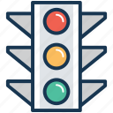 signal lights, signals, traffic lamps, traffic lights, traffic signals icon